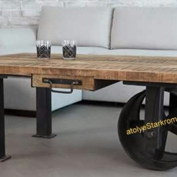 Decor Wheelbarrow Shaped Coffee Table