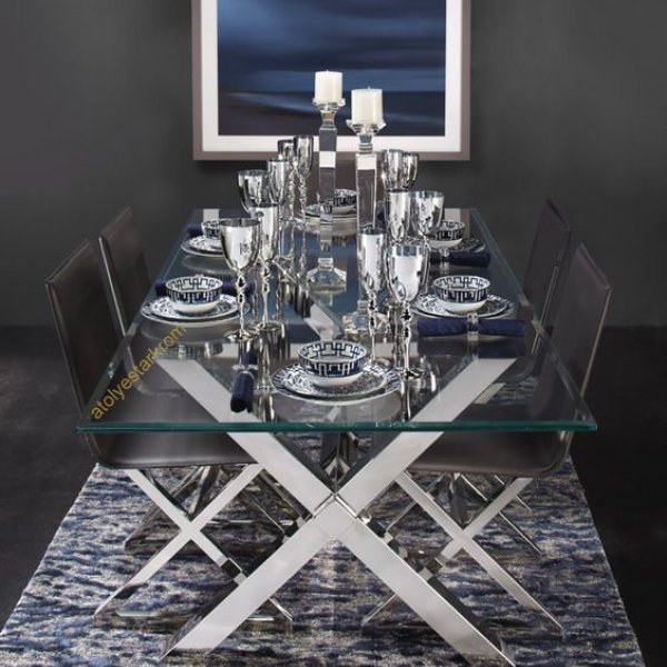 Chrome Dining Table Set